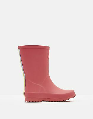 Joules Girls Roll Up Wellies in BRIGHT CORAL Size Junior 3