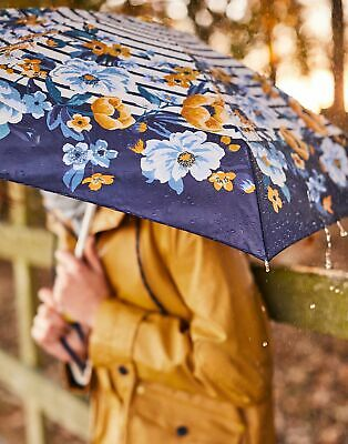 Joules Women Fulton Tiny   Floral Stripe Ladies Umbrella in  in One Size