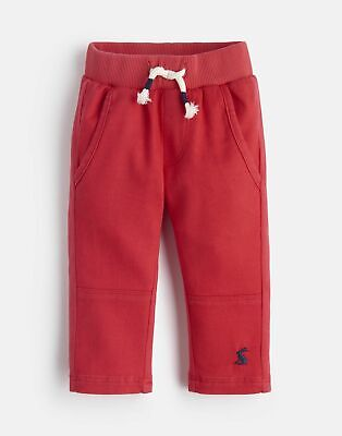 Joules 207599 Jersey/Woven Mix Trousers in RED Size 6min9m