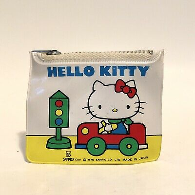 Vintage 1976 Sanrio Hello Kitty Vinyl Coin Case Purse With Pad & Pencil