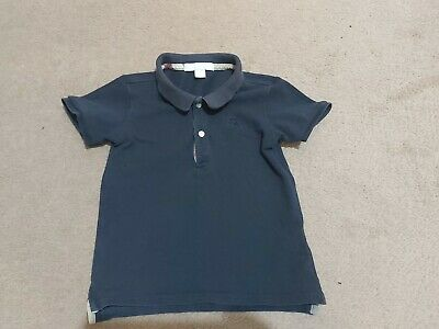 Burberry Boys Navy Polo In Age 2