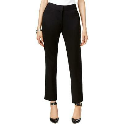 Tahari ASL Womens Linda Black Mid-Rise Dress Pants Trousers Petites 0P BHFO 1003