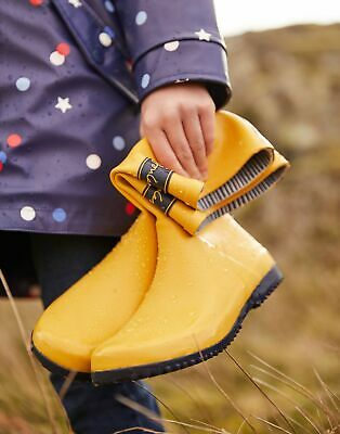 Joules Girls Roll Up Wellies in ANTIQUE GOLD Size Childrens 10
