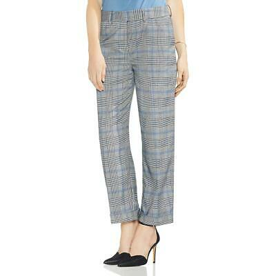 Vince Camuto Womens Black Glen Plaid Houndstooth Office Ankle Pants 14 BHFO 1903