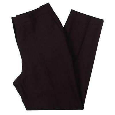 Hugo Boss Womens Tavela Purple Wool Blend Glen Plaid Trouser Pants 2 BHFO 1757
