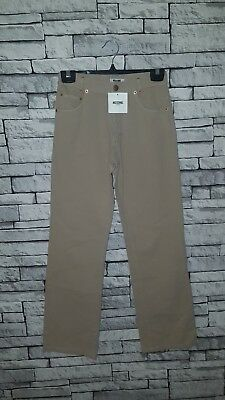 Age 11-12 Year Old Boys Girls BNWT Moschino (40) Beige Sand Trousers RRP £61