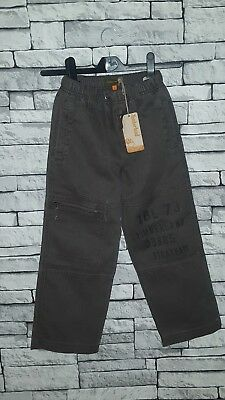 Age 6-7 Year Old Boys Girls BNWT Timberland Grey Cargo Cotton Trousers RRP £49