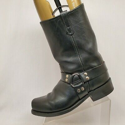 Double H Black Leather Harness Cowboy Motorcycle Riding Boots Mens Size 12 D