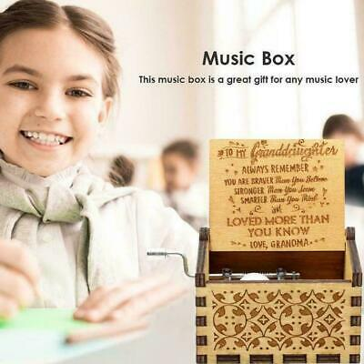 Wooden Music Box Grandmother To Granddaughter -You Gift My Are Engraved Sun K5H8