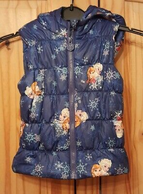 girls disney frozen gilet / body warmer age 2-3