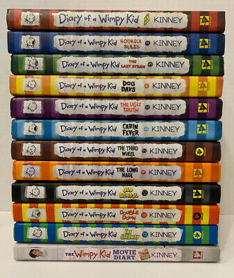 Lot of 12 DIARY OF A WIMPY KID Books by Jeff Kinney Hardcover