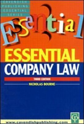 Essential company law by Nicholas Bourne (Paperback / softback) Amazing Value