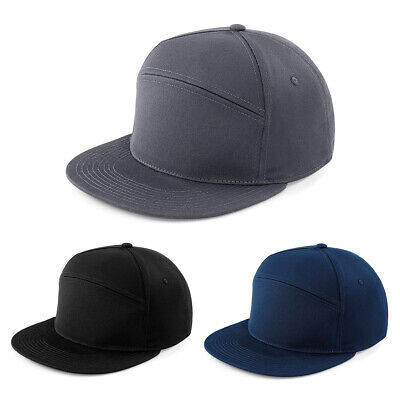 New Plain Pitcher Snapback Classic Baseball Cap Hip Hop Era Black Flat Peak Hat