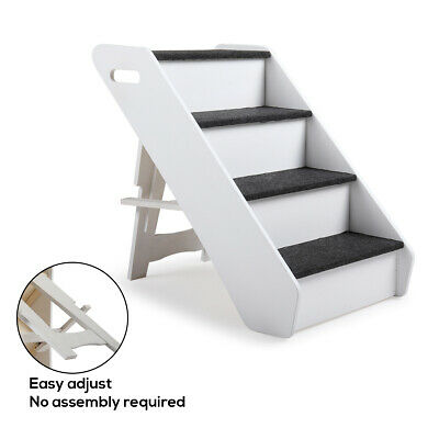 Portable Pet Stairs 4 Step Portable Small Dog Cats Ladder Cat Ramp Steps Stair
