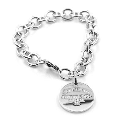 Tiffany & Co. Return to New York Round Tag Sterling Silver Bracelet | JH