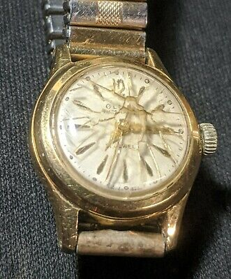 Rare OLMA Ladies Wrist Watch. Automatic Mvmnt. Works On&Off. Rolled Gold Band.