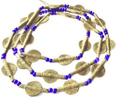 Fine Baule smooth beads tribe handmade brass mixed African Trade Beads