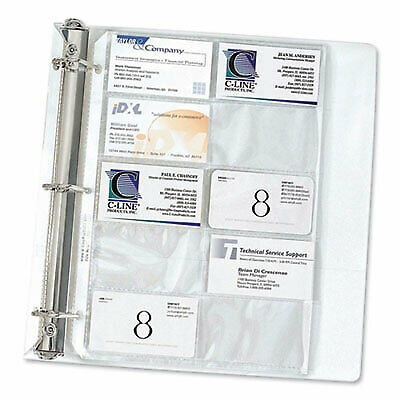 Business Card Binder Pages, Holds 20 Cards, 8 1/8 x 11 1/4, Clear, 10/Pack 61217