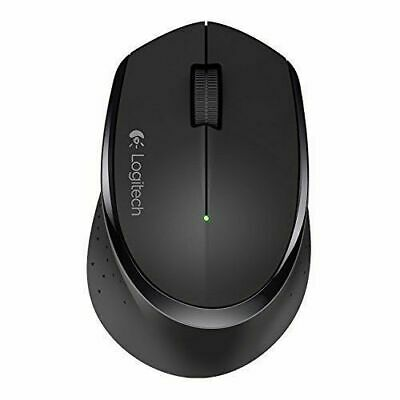 Logitech M275 Wireless Mouse Black Comfortable right-handed shape design