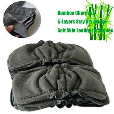 Soft Breathable Charcoal Nappy 5 Layers Diapers Reusable Mat Bamboo Insert Pad