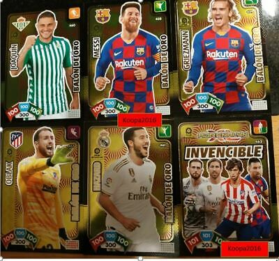 Lote 5 Balones De Oro + Card Invencible  Adrenalyn Xl 2019-2020