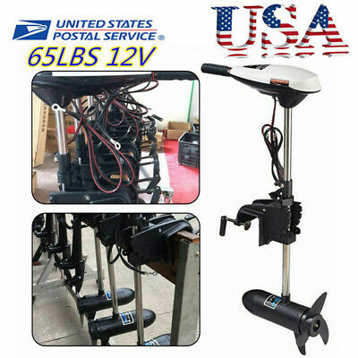 65LBS 12V Electric Outboard Motor Inflatable Fishing Boat Engine F5-R2 Control