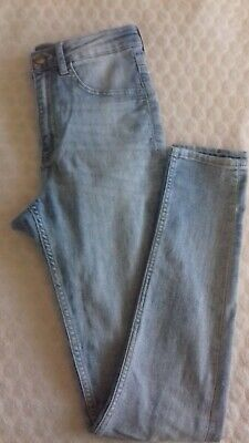 H & M Divided pale blue skinny stretch jeans size 10
