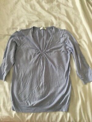 Marks And Spencer Pale Blue Jumper With Stretch Size 12