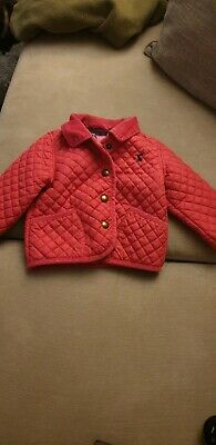 Baby Toddler Joules Girls Coat Jacket 6-9 Months Pink Quilted