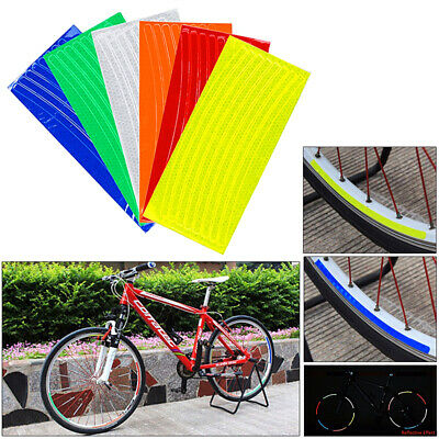 Bicycle Bike Car Motorcycle Reflective Stickers Night 8M Safety Tape Riding C3M8