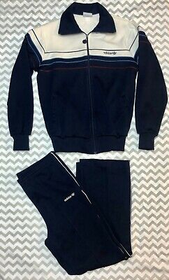 1970's/1980's Adidas Trefoil Mens Small Tracksuit-Navy. Excellent Condition!
