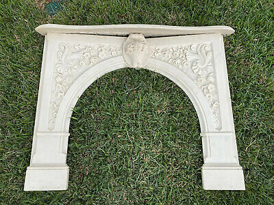 Beautiful French or Italian Inspired Hand Carved Marble Mantel Fireplace