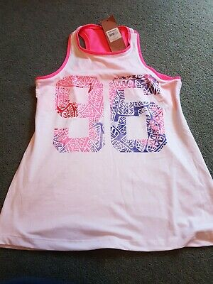 BNWT Girls Exercise Vest top - Kylie @ M&Co - Age 9/10