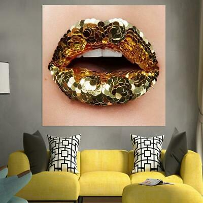 Canvas HD Painting Blink Mouth Pictures Beauty Makeup Posters And Prints Home De