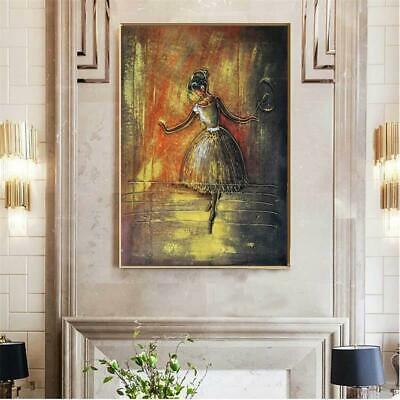 Abstract Canvas Painting Wall Art Figure Painting Hand Painted Dance Girl Print
