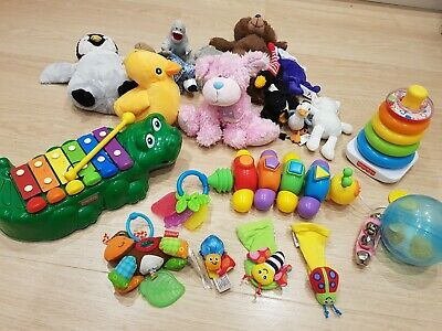 Large Bundle of UNISEX Baby Toys. Excellent condition. VARIOUS BRANDS