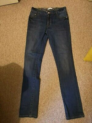 MINI Boden BOYS Straight Jeans - WITH ADJUSTABLE WAISTBAND Age 15 L Worn once