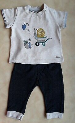 ✈Baby Boys ✈BLUE ZOO ✈joggers & ✈M&S✈ t-shirt 3-6 months vgc ✈