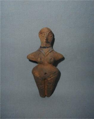 Antique Balkan TOP HIGH AGED VINCA NEOLITHIC CLAY  MOTHER EARTH IDOL SCULPTURE