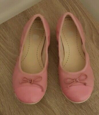Girls Leather Pink Clarks Pumps Size 13F