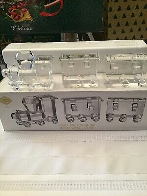 Shannon Crystal By Godinger Three Piece Train Set