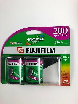 2 Pack FujiFilm 24mm 200 speed 25 exp. Advanced Photo System Nexia Film Color