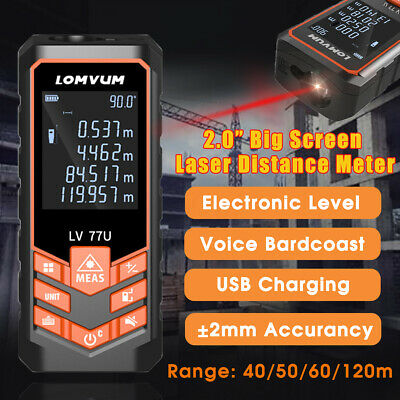 40M-120M Recharge Digital Laser Distance Meter Range Finder Measurement Tool