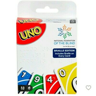 UNO Braille Edition for the Blind Card Game Mattel