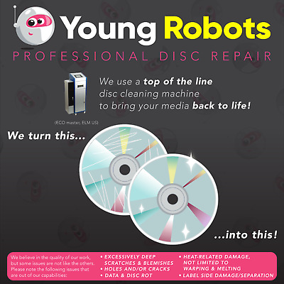 250 Mail-In Video Game CD DVD Blu-Ray Disc Repair Service - Remove Scratches