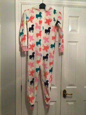 Girls Unicorn fleece nightwear jumpsuit  from Matalan age 10 years.