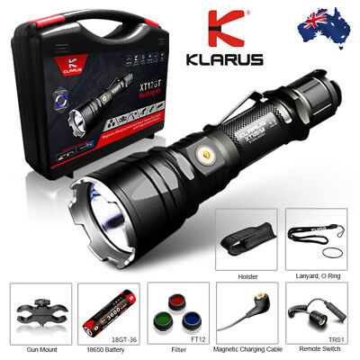KLARUS XT12GT 1600 lumens  LED Torch Tactical Hunting Kit AU Stock and Warranty