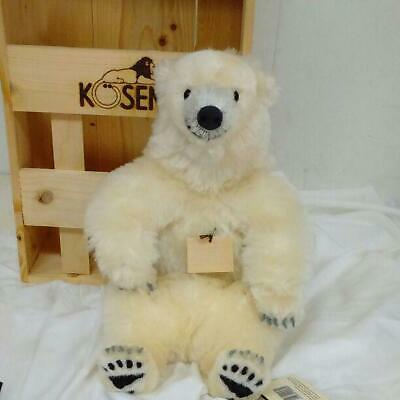 Koesen White Bear sitting Plushtoy with Wooden box 200/1000 limited edition