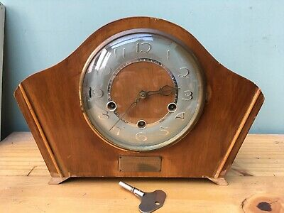 Antique Vintage Smiths K6A Westminster Chimes Mantle Mantel Clock Presented Bham