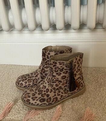 Girls Next Leopard Print Boots Size 10 Worn Once Excellent Condition